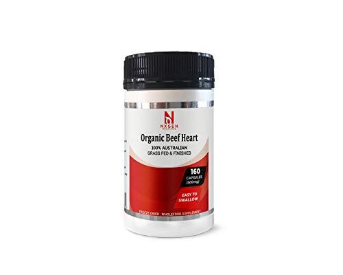 Organic Beef Heart, Grass-Fed, Australian. 160 Gelatin Capsules