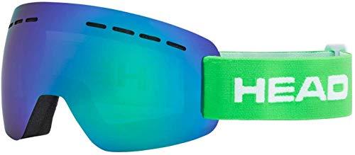 HEAD Unisex - volwassenen skibril SOLAR FMR, Green, M, One Size
