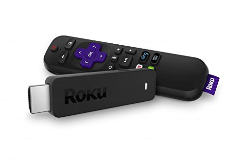 Roku Streaming Stick   Portable, Power-Packed Player with Voice Remote with TV Power and Volume (2017) (Renewed)