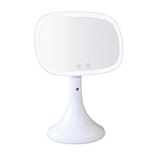 ZYLZL Espejo, baño, montado en la pared, tocador, belleza Lámpara hidratante Espejo de maquillaje Lámpara de mesa LED Espejo Aerosol doméstico Humidificación Hidratante,blanco