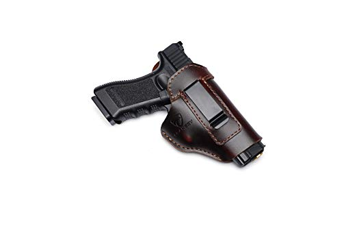 Cranssy IWB Leather Holster for Concealed Carry Compatible...