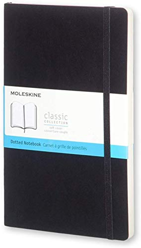 Moleskine Classic Notebook, Soft Cover, Large (5' x 8.25') Dotted, Underwater Blue, 192 pages