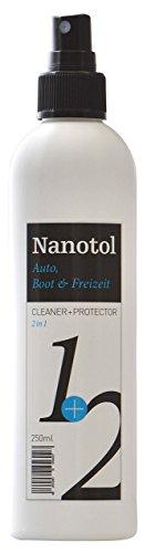 Nanotol Regenabweiser, Scheibenversiegelung Auto, Boot & Freizeit 2in1 Cleaner und Protector = Reinigung und Nanoversiegelung (250ml)