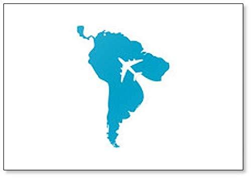 South America Travel Logo Illustratie Koelkast Magneet