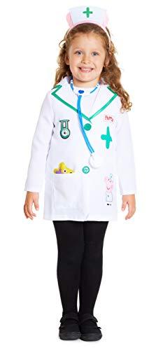 Peppa Pig Disfraz Niña, Disfraces Niña Niño con Accesorios de Juguete, Regalos Originales Para Niñas y Niños Edad 3-5 Años (3 años, Blanco)