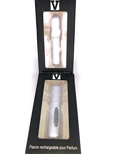(Gris) Flacon rechargeable pour parfums, Vaporisateur de parfum Mini portable, Atomisateur voyage vide réutilisable pour homme & femme 5ml