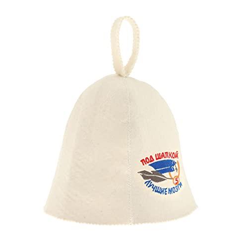 Fenteer Sombrero de Sauna, Gorro de Banya Ruso, Fieltro de Lana, Protección Ligera para La Cabeza a La Moda para Mujeres, Hombres, Baño, Vaporarium - Patrón