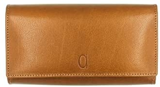 Alfa Leather Co. Leather Front-Logo Rectangular Bifold Wallet for Women