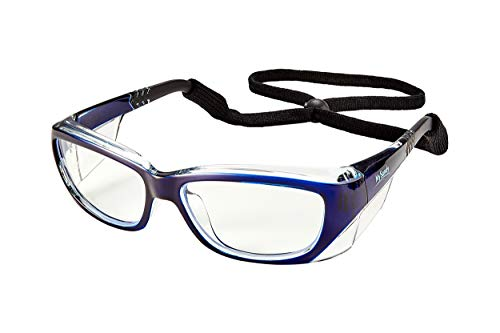 Fog Proof Safety Glasses for Work Anti Scratch Eye Protection Medical (Blue)