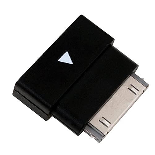 30pin adaptador convertidor de extensión profesionales del muelle extensor a Micro USB macho a hembra adaptador para el iPhone 4s 4 iPad 2 de alimentación (Negro) Potencia
