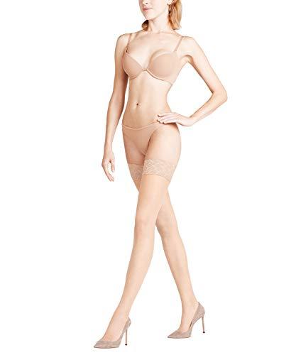 FALKE Damen Stay Ups Shelina 12 Denier - Ultra-Transparente, 1 Paar, Beige (Golden 4699), 9.5-10
