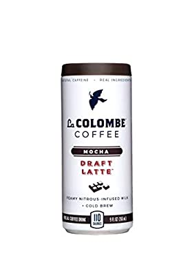 La Colombe Mocha Draft Latte - 9 Fluid Ounce - Cold-Pressed Espresso and Frothed Milk + Dark Chocolate - Made With Real Ingredients - Grab And Go Coffee