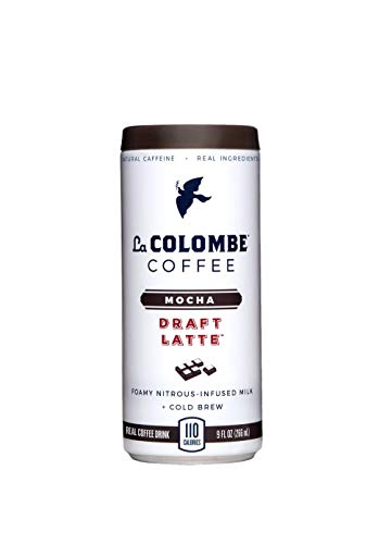 La Colombe Mocha Draft Latte - 9 Fluid Ounce, 4 Count - Cold-Pressed Espresso and Frothed Milk + Dark Chocolate - Made With Real Ingredients - Grab And Go Coffee