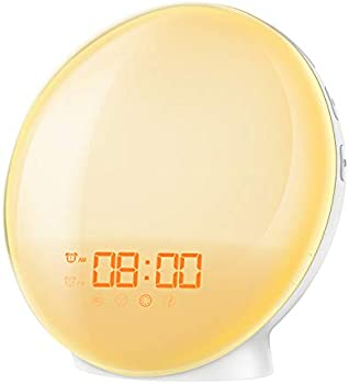 Amir New Wake-Up light Sunrise Alarm Clock with 7 Natural Sounds