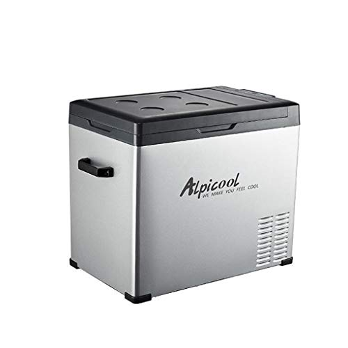 QCYSK Congelatore Portatile a compressore, 12 V / 24 V / 220 V - Grigio/Nero (75L)