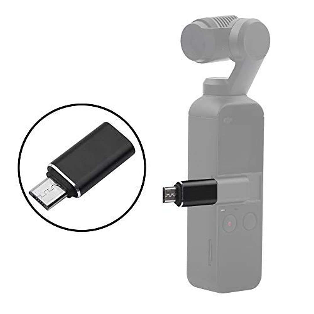 HeiyRC Micro-USB Connector for DJI OSMO Pocket,USB-C to Micro-USB Converter Adapter for Smart Phone