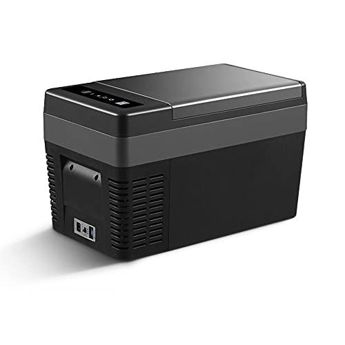 Walmeck Mini refrigerador y congelador de 25L, refrigerador y calentador portátil para coche compacto, refrigeración rápida, nevera automática para picnic