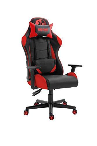 Cadeira Gamer Krait Snake Gaming Reclinável B88 Vermelha