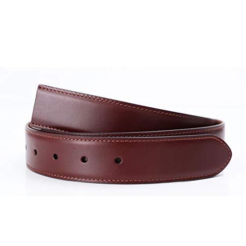 ブライドルレザー ストリンガ (ズボン用替えベルト バックルなし) ウエスト約107cmまで推奨 全長120cm 幅3.5cm コニャック
