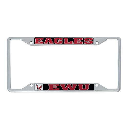 Desert Cactus Eastern Washington University EWU Eagles Metal License Plate Frame for Front or Back of Car Officially Licensed (Mascot)