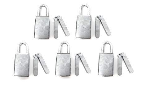 Magnetic Padlock Set of 5 [920KD-5] Keyed Different Locker Locks