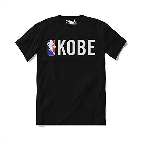 MUSH T-Shirt Scritta Kobe Logo NBA - Forever 24-100% Cotone Organico, Donna M, Nero
