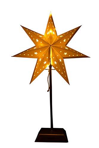 Best Season SA000049 - Stella a LED in metallo, carta e plastica, 14 x 34 x 55 cm, colore: Bianco