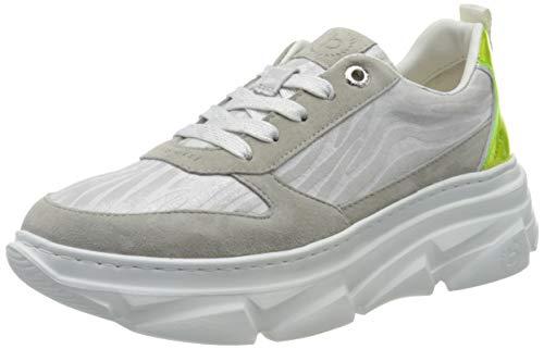 bugatti Damen 411844063439 Sneaker, Grau (Light Grey/Animal Print 1282), 41 EU