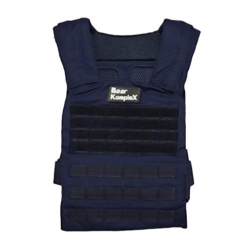 Bear KompleX Weight Vest - Military Grade, Easily Adjustable, Gym Training Jacket with Heat Treated Steel Alloy Buckles for Strength & Crossfit Training, for Men & Women, Plates Sold Separately