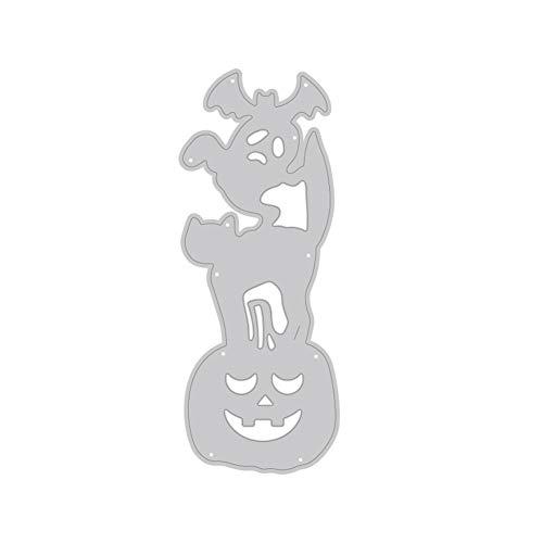 TankMR Halloween pompoen metaal ponsvormen, sjabloon voor doe-het-zelvers scrapbook album papier kaart kunst handwerk decoratie Zilvernone