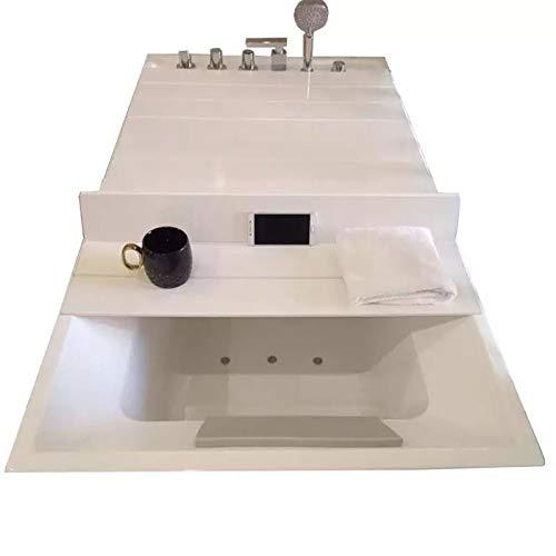 XXIOJUN Badewannenabdeckung, Plastik Falten Badewannenhalterung Isolierung Und Staubdichte Lagerung Wasserdicht Und Feuchtigkeitsbeständig, Schneller Abfluss (Color : White, Size : 153x70x0.6cm)