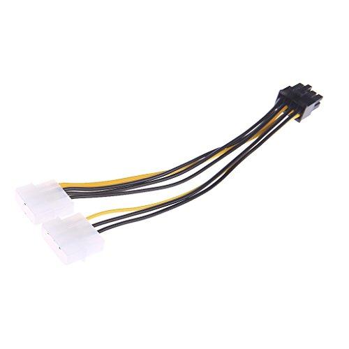 luosh 2X Molex LP4 a 4 Pin per Scheda Video PCI Express a 8 Pin Cavo Adattatore di Alimentazione PSU ATX
