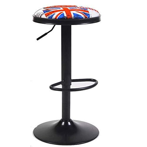 ChairStoolBar Counter Chair Europese stijl kruk huishouden heffen bar stoel ronde barkruk retro café ontvangststoel 38 * 62-82cm bus