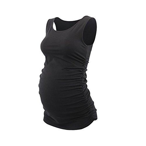 Topwhere Umstandsmode, Damen Baumwolle Schwangerschafts-Shirt Still-Tank Top
