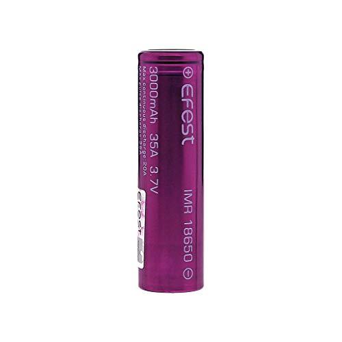 EFEST 3000 mah 35A IMR Batería superior plana de alto drenaje (1 en un paquete) - Estuche incluido para el kit inicial de cigarrillos electrónicos