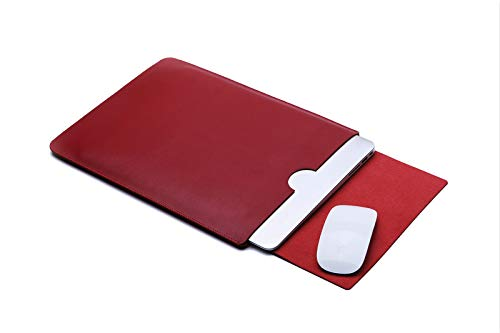 For Lenovo ThinkPad X270 12.5' Ultra-thin Pouch Cover Sleeve Case,Microfiber Leather Laptop Bag (Red)