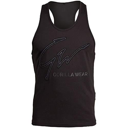 Gorilla Wear Evansville Tank Top - Bodybuilding und Fitness Bekleidung für Herren, schwarz, XL