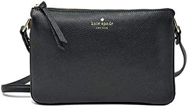 Kate Spade New York Madelyne Mulberry Street Pebbled Leather Crossbody Shoulder Bag, Black