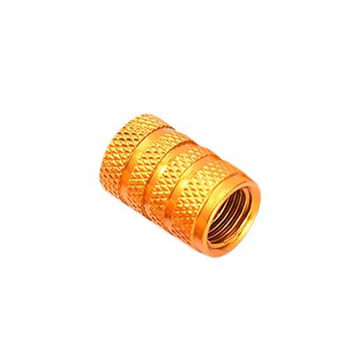 YSHtanj ventiel cap externe gemodificeerde klep cap 4 Stks aluminiumlegering auto band US Type luchtklep Cap poort stof Stem Cover - Zilver goud