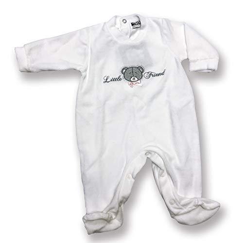 Character World Abbigliamento-Tutina Intera Neonato Grenouillère, Beige (Panna), 68 (Taille Fabricant: Small) Bébé garçon