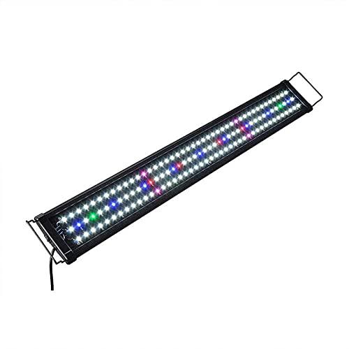 LED Aquarium Licht Volles Spektrum Süßwasser Aquarium Licht mit Fischtank Beleuchtung Wasserdichte Aquarium Haube Beleuchtung Für Pflanze Süßwasser Aquarium Aquarium Tank Refugium ( Size : 60CM )