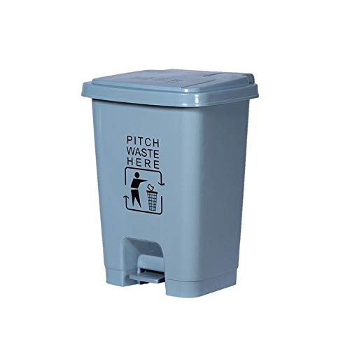 AOYANQI-Cubos de basura Bote de basura gris, 15 litros a 60 litros Bote de basura doméstico de plástico Bote de basura comercial multifunción for exteriores Bajo techo, en exteriores ( Size : 30L )