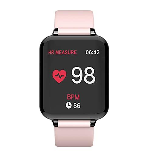 WPH B57 Relojes Inteligentes Deportes Impermeables SmartWatch Monitor de frecuencia cardíaca Funciones de presión Arterial para Mujeres Hombres niño,D