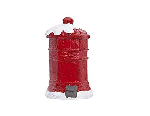 TOYLAND Buzón Rojo 9cm Fairy Garden - Decoraciones navideñ