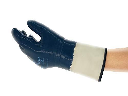 Ansell ActivArmr 27-810 Öl Abweisende Handschuhe, Mechanikschutz, Blau, Größe 10 (12 Paar)