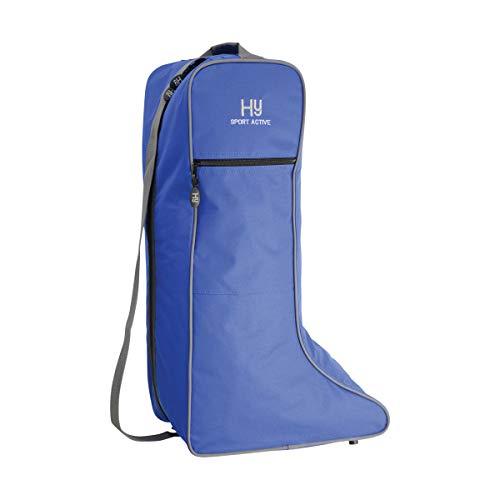Y-H Hy Sport Active - Bolsa para botas de caballo, Estantería azul.