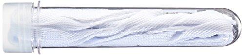 TubeLaces White Flat Schnürsenkel, Cordones de zapatos para Mujer, Blanco...