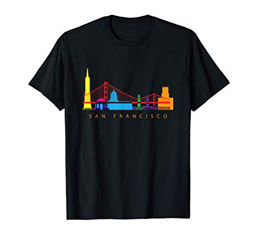 San Francisco, California, USA Skyline Souvenir T-Shirt