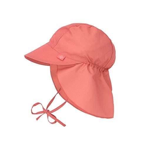 LÄSSIG Sonnenhut Kinder - Flap Hat, Coral, 09-12 Monate
