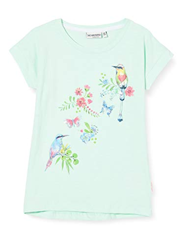 Salt & Pepper Mädchen 03112274 T-Shirt, Grün (Pastell Green 612), (Herstellergröße: 104/110)